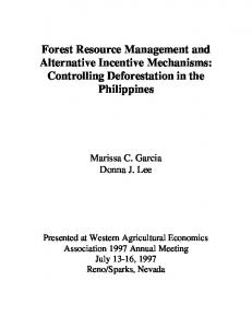 Forest Resource Management and Alternative ... - AgEcon Search