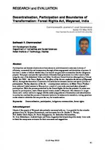 Forest Rights Act, Wayanad, India