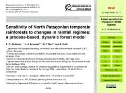 Forest sensitivity to changes in rainfall regimes - Journal volumes