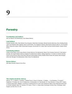 Forestry - IPCC