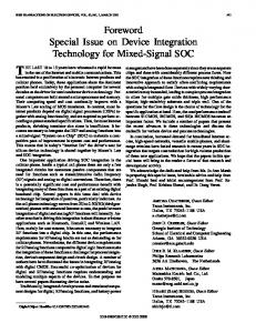 Foreword special issue on device integration technology ... - IEEE Xplore