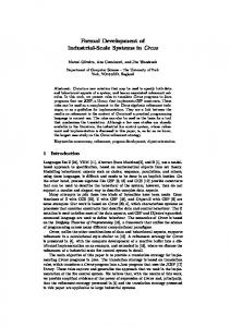 Formal Development of Industrial-Scale Systems in Circus - CiteSeerX
