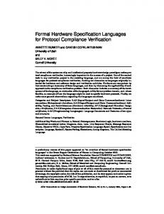 Formal Hardware Specification Languages for Protocol Compliance ...