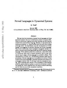 Formal Languages in Dynamical Systems
