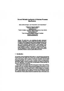 Formal Methods Application in Business Processes ...