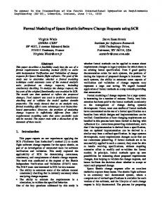 Formal Modeling of Space Shuttle Software Change Requests using ...