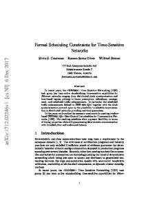Formal Scheduling Constraints for Time-Sensitive Networks