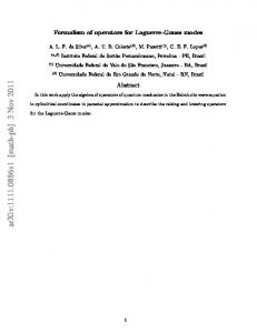 Formalism of operators for Laguerre-Gauss modes