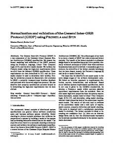 Formalization and validation of the General Inter-ORB Protocol (GIOP ...