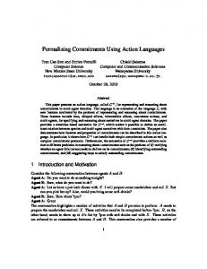 Formalizing Commitments Using Action Languages - NMSU Computer ...