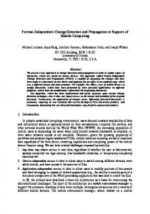 Format-Independent Change Detection and Propagation in ... - UF CISE