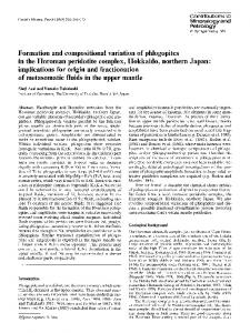 Formation and compositional variation of phlogopites in the Horoman ...