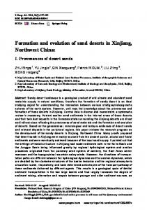 Formation and evolution of sand deserts in Xinjiang ... - Springer Link