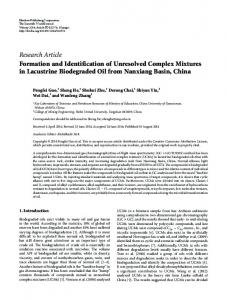 Formation and Identification of Unresolved Complex Mixtures in ...
