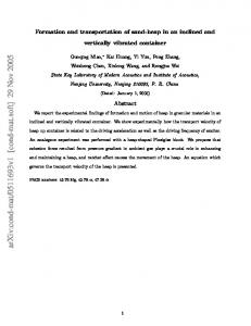 Formation and transportation of sand-heap in an inclined and ...