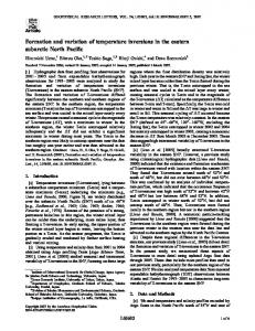 Formation and variation of temperature inversions in the eastern ...