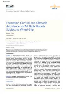 Formation Control and Obstacle Avoidance for