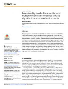 Formation flight and collision avoidance for multiple UAVs ... - PLOS
