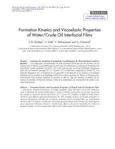 Formation Kinetics and Viscoelastic Properties of Water/Crude Oil ...