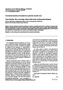 Formation kinetics of austenite in pearlitic ductile iron - Springer Link