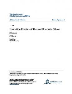 Formation Kinetics of Thermal Donors in Silicon