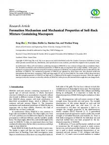 Formation Mechanism and Mechanical Properties of Soil-Rock Mixture
