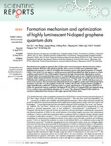 Formation mechanism and optimization of highly ... - BioMedSearch