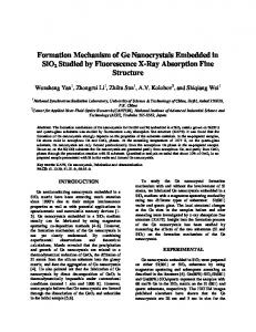 Formation Mechanism of Ge Nanocrystals Embedded in SiO2 Studied ...