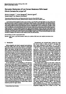 Formation Mechanism of Low Contact Resistance PdZn-based Ohmic ...