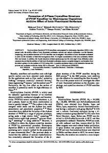 Formation of \beta-Phase Crystalline Structure of PVDF ... - Nature