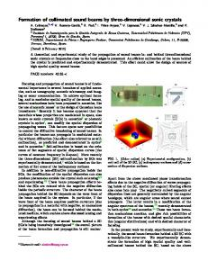 Formation of collimated sound beams by three-dimensional sonic ...