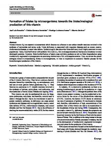 Formation of folates by microorganisms: towards the