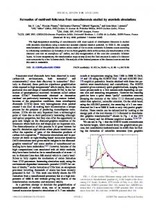 Formation of multiwall fullerenes from nanodiamonds studied by