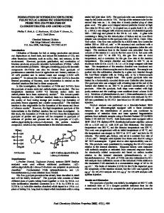Formation of Nitrogen Containing Polycyclic Aromatic Compounds ...