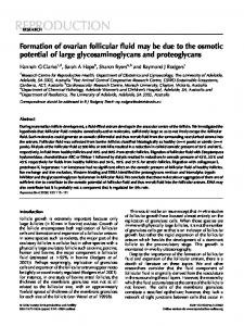 Formation of ovarian follicular fluid may be due to the osmotic potential ...
