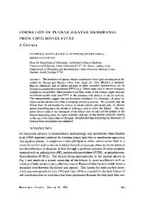 formation of planar bilayer membranes from lipid monolayers a ... - NCBI