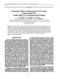 Formation of silver nanoparticles in PVP matrix in supercritical CO 2 ...