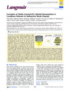 Formation of Stable Uranium(VI) Colloidal