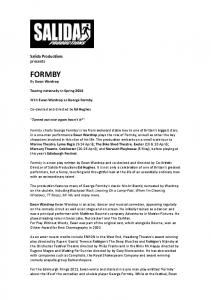 Formby Press Release Tour 2014