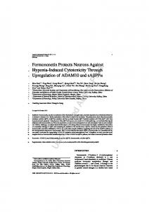 Formononetin Protects Neurons Against Hypoxia-Induced Cytotoxicity ...