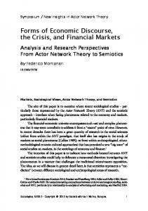 Forms of Economic Discourse, the Crisis, and Financial ... - Rivisteweb