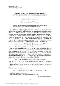 formulas for the joint spectral radius of non-commuting banach