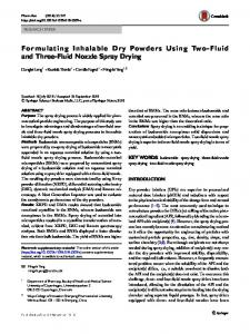 Formulating Inhalable Dry Powders Using Two-Fluid