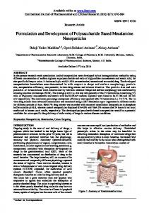 Formulation and Development of Polysaccharide ... - Impact Factor