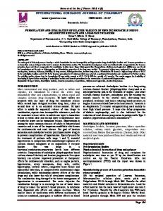 formulation and evaluation of bilayer tablets of two incompatible drugs ...