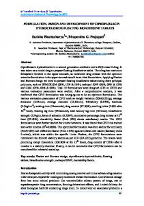 formulation, design and development of ciprofloxacin hydrochloride ...