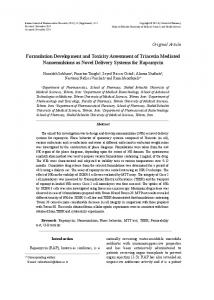 Formulation Development and Toxicity