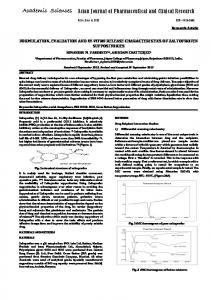 FORMULATION, EVALUATION AND IN-VITRO RELEASE