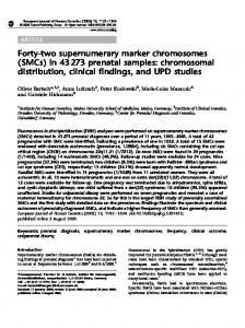 Forty-two supernumerary marker chromosomes (SMCs) - Nature
