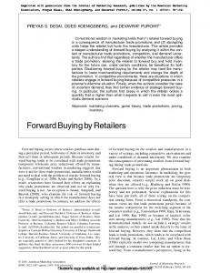 Forward Buying by Retailers - SSRN papers